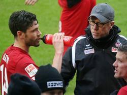 Der 1. FC Köln von Peter Stöger (r.) spielte Remis gegen Anderlecht