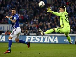 Guido Burgstaller war bei seinem Schalke-Debüt gleich der umjubelte Matchwinner