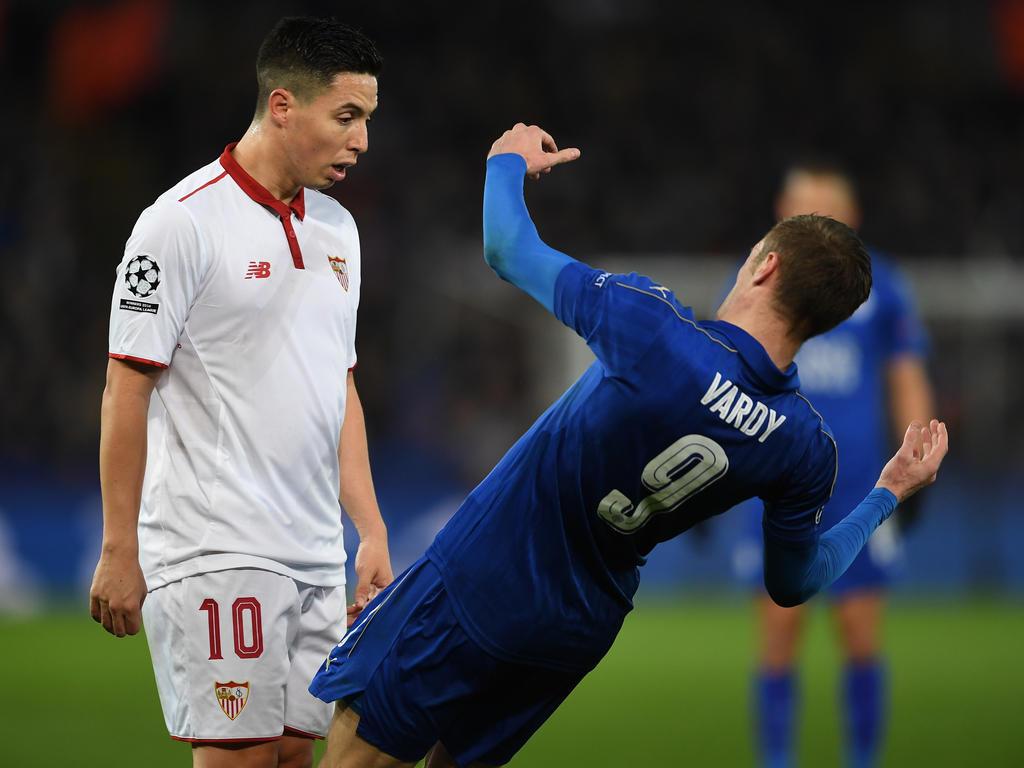 Samir Nasri (r.) lästert über Leicester-Stürmer Jamie Vardy