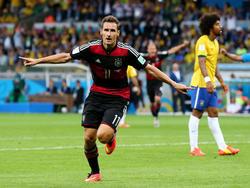 Miroslav Klose traf beim 7:1-Sieg gegen Brasilien zum letzten Mal für Deutschland