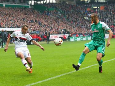 Alejandro Gálvez (r.) will Werder verlassen