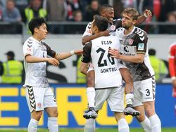 Der FC St. Pauli feierte zum Saisonende ein Schützenfest