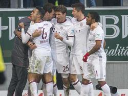 Die Bayern feierten am 20. Spieltag ihr Glück in der Nachspielzeit