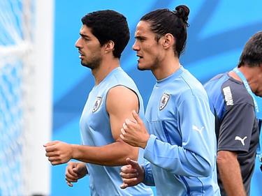 La dupla Cavani- Suárez quiere clasificar a Uruguay al Mundial. (Foto: Getty)