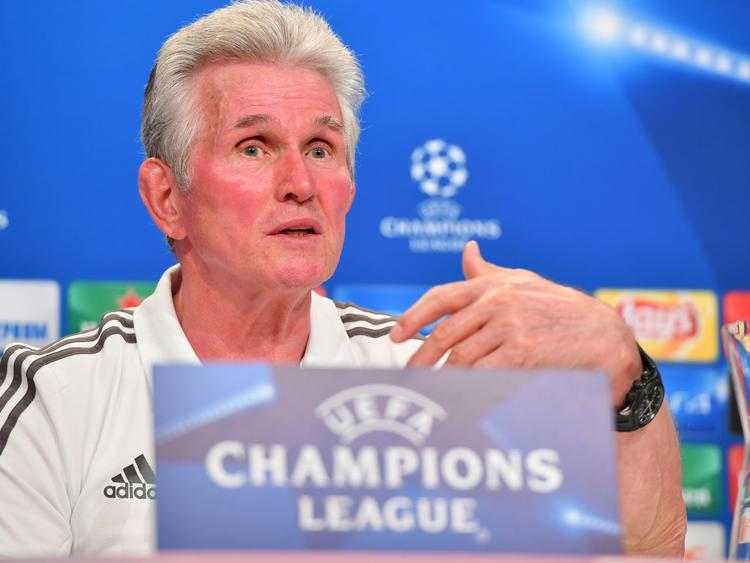 Bayern-Trainer Jupp Heynckes freut sich auf das Duell mit Celtic