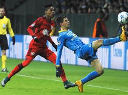 Bayer Leverkusen tat sich gegen BATE Borisov schwer