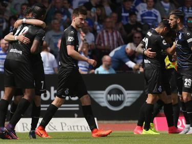 Der MSV Duisburg feiert die direkte Rückkehr in die 2. Bundesliga