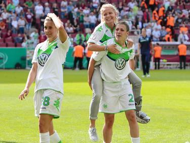 Lena Goeßling, Julia Šimić und Luisa Wensing stehen mit dem VfL im CL-Finale