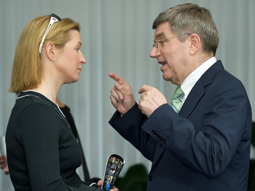 Claudia Pechstein kritisiert Thomas Bach