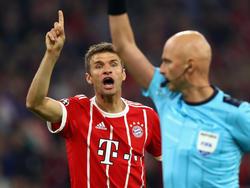 Thomas Muller no acompañará a los bávaros en los siguientes compromisos. (Foto: Getty)