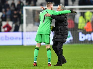 De Gea (l.) und Mourinho gewannen mit Manchester United die Europa League