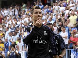 Ronaldo celebra su tanto en La Rosaleda en la última jornada de liga. (Foto: Imago)
