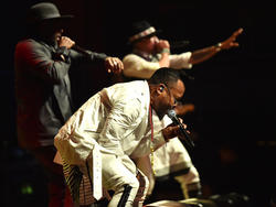 Die Black Eyed Peas sollen den Fußballfans einheizen