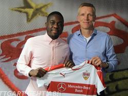 Der VfB Stuttgart sichert sich die Dienste von Orel Mangala (Quelle: Twitter/VfB)