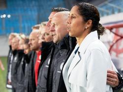 Steffi Jones und die DFB-Frauen sind gespannt auf die EM-Auslosung