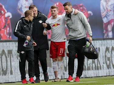 Leipzigs Timo Werner musste verletzt ausgewechselt werden