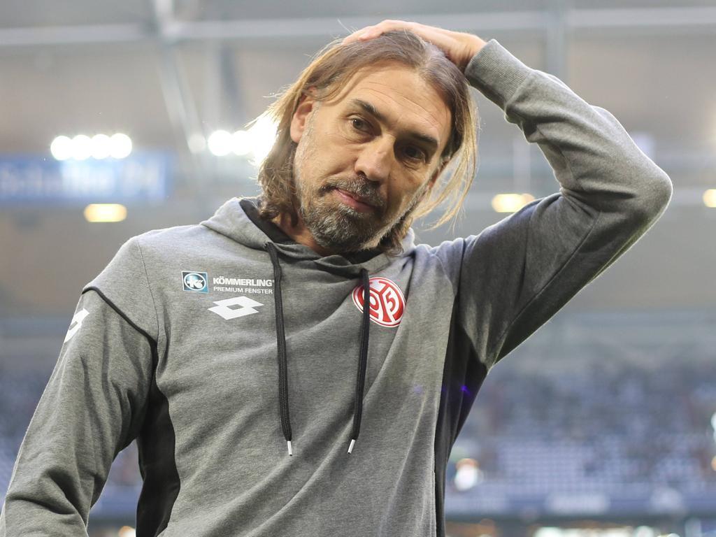 Mainz-Coach Schmidt war nach dem Spiel auf Schalke unzufrieden