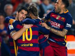 Suárez, Messi, Neymar y Dani Alves no estará en Mestalla. (Foto: Getty)