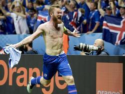 Aron Gunnarsson ist der Anführer bei den Isländern