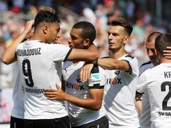 Die Spieler des SV Sandhausen boten ihren Fans gegen Union Berlin ganz großen Sport