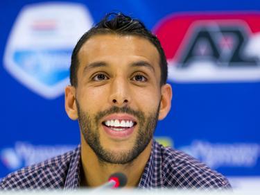 AZ presenteert de transfervrije Mounir El Hamdaoui als nieuwe speler. (21-10-2015)