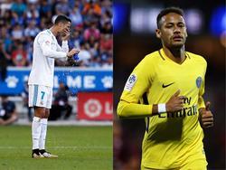 Fragezeichen hinter Ronaldo (li.) und Neymar