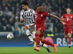 Sami Khedira (l.) konnte gegen Bayerns Übermacht wenig ausrichten
