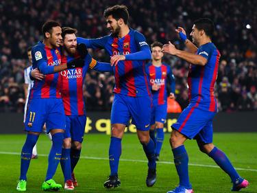 Neymar, Messi und Co. feiern eine Torparty im Camp Nou