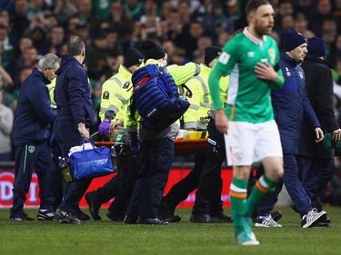 Seamus Coleman hat sich das rechte Bein gebrochen