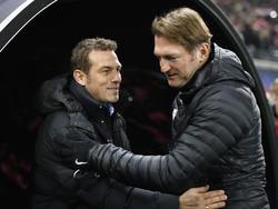Unterschiedlicher Meinung: Ralph Hasenhüttl und Markus Weinzierl