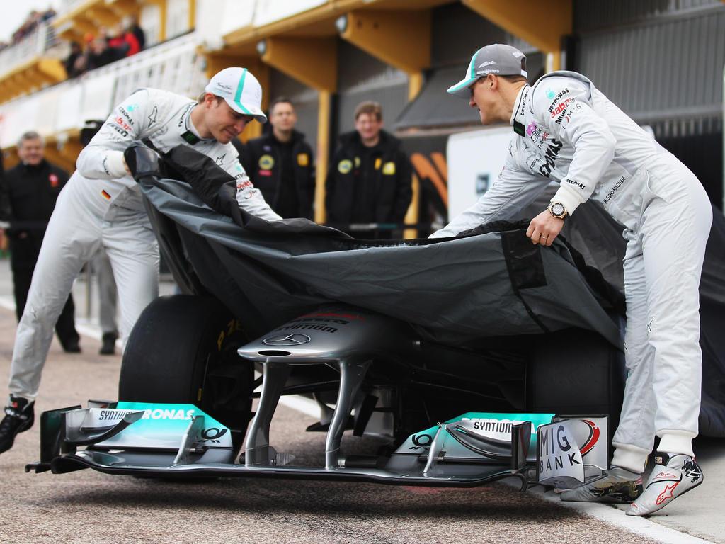 Michael Schumacher (r.) war Teamkollege von Nico Rosberg