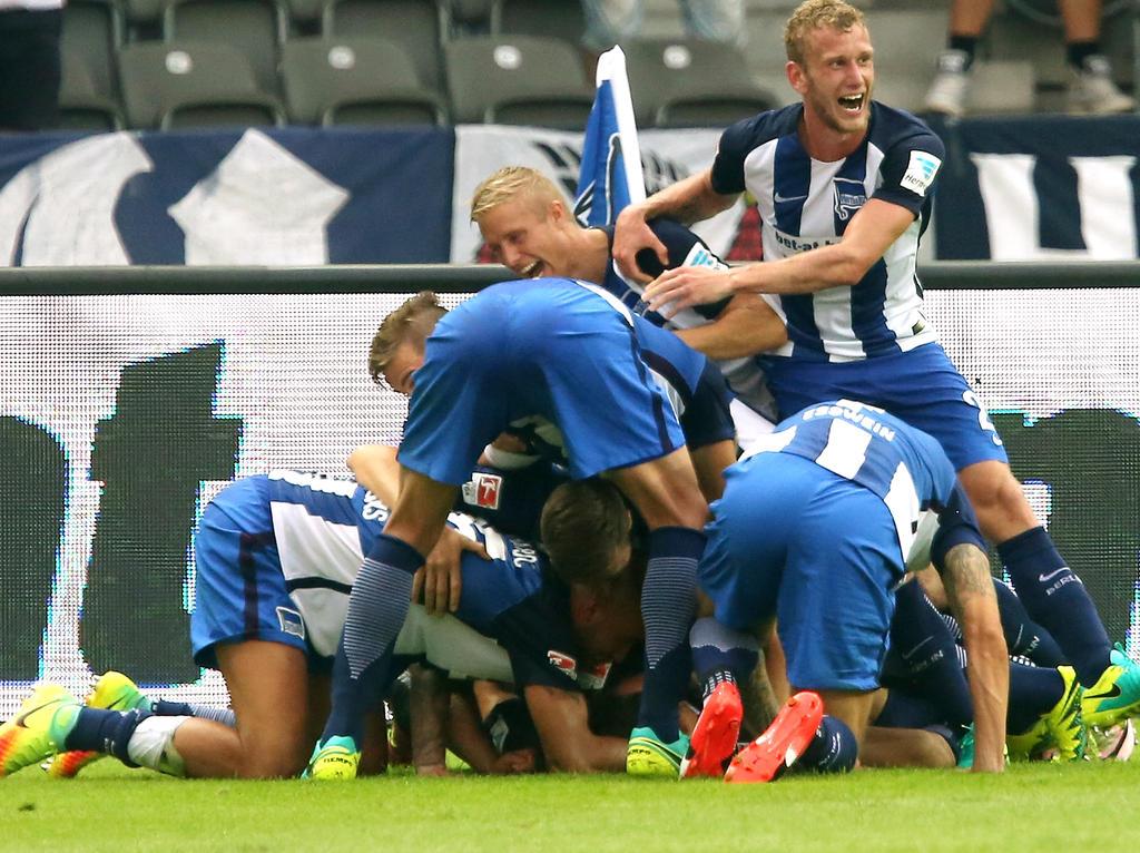 Hertha BSC gewinnt nach einer verrückten Schlussphase