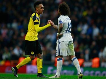 Aubameyang (l.) und Marcelo könnten bald für den selben Verein auflaufen