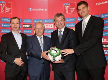 Thomas Hollerer, Leo Windtner, Kurt Svoboda und Bernhard Neuhold (von links nach rechts)