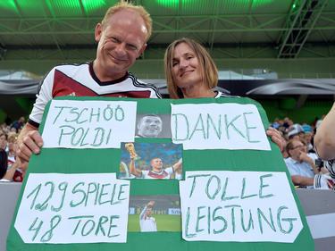 Die Fans können sich am 22.März 2017 nochmal von Lukas Podolski verabschieden