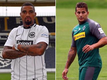 Prominente Neuzugänge: Kevin-Prince Boateng (li.) heuert in Frankfurt an, Raùl Bobadilla wechselt zurück zu Borussia M'Gladbach
