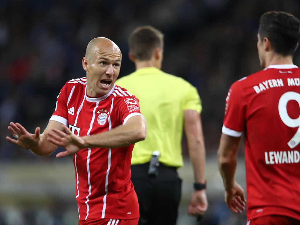 Arjen Robben war nicht zufrieden mit der Leidenschaft seiner Mitspieler