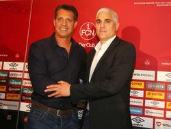 Alois Schwartz (l.) kommt vom Ligakonkurrenten SV Sandhausen