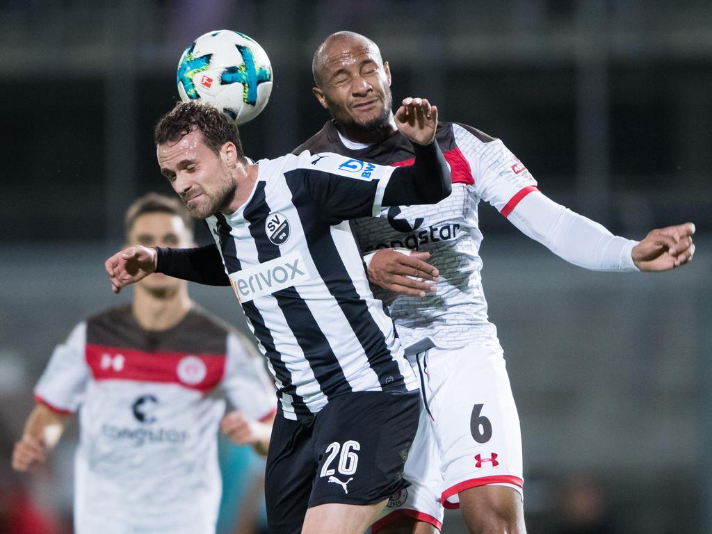 Remis im Verfolgerduell zwischen Sandhausen dem FC St, Pauli