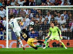 Cristiano anota un tanto contra el Atlético en la pasada Champions. (Foto: Getty)