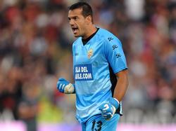 Esteban en un partido de Primera con el Almería. (Foto: Getty)