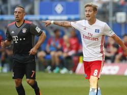 Franck Ribéry (l.) sind mal wieder die Sicherungen durchgebrannt