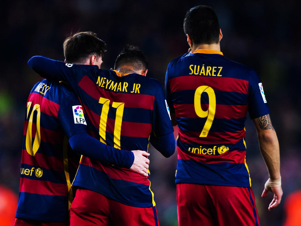 Das heute schon legendäre Barça-Trio Messi, Neymar und Suárez (v.l.)