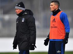 Kyriakos Papadopoulos (r.) schwärmt von HSV-Trainer Markus Gisdol