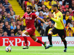Mohamed Salah estuvo muy activo y anotó un tanto para el Liverpool. (Foto: Getty)