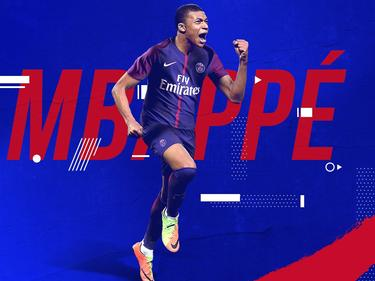 Kylian Mbappé luce la nueva camiseta del PSG. (Foto: Getty)