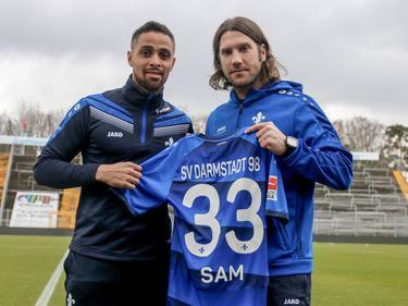 Sidney Sam wurde in Darmstadt von Trainer Torsten Frings empfangen