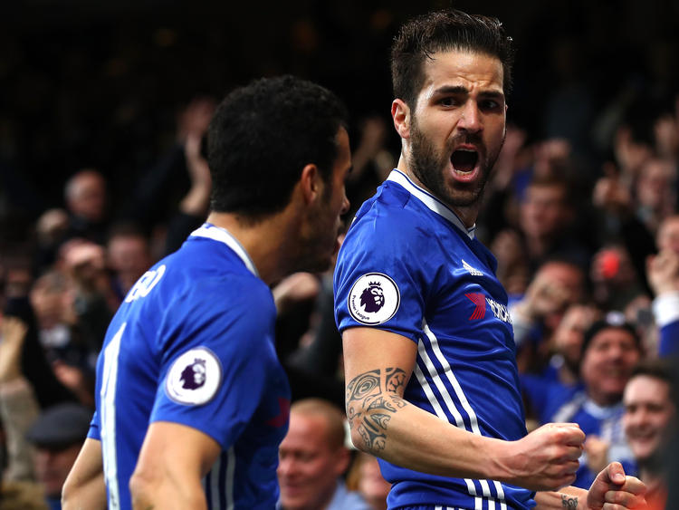 Cesc Fàbregas brachte Chelsea in Führung