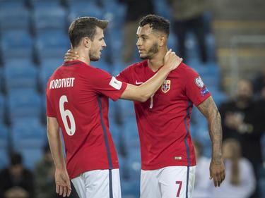 Norwegens Håvard Nordtveit (l.) und Joshua King sind vor dem Deutschland-Spiel optimistisch