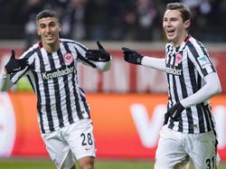 Die Frankfurter feierten einen unterhaltsamen 5:3-Sieg gegen Sandhausen